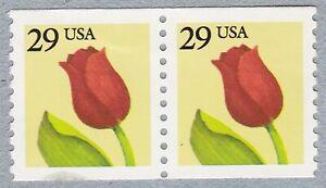 Paire 29 C Tulip US 2526 Perf F-Très fine, neuf sans charnière
