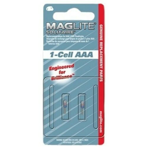 Pack of 2 Maglite Solitaire 1-Cell AAA Genuine Replacement//Spare Bulbs