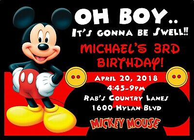 Personalised Disney Mickey Mouse Birthday Party Invites envelopes mm3