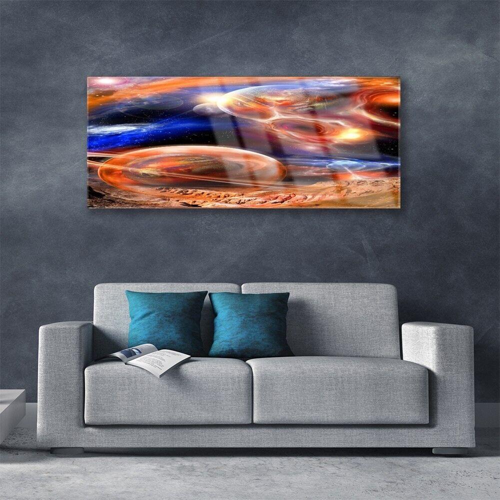Tableau Murale Impression Sous Verre Verre Sous 125x50 Univers