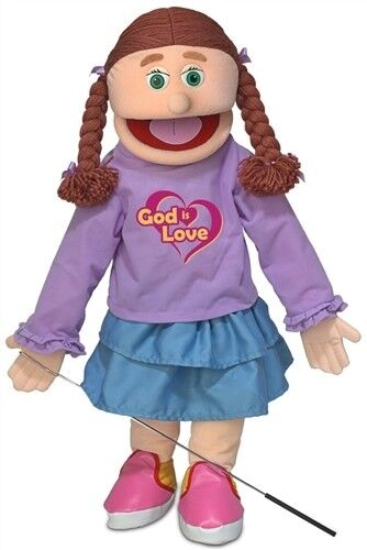 Silly Puppets Caucasian Girl God Is Love 25 Inch Full Body Puppet SP2801R