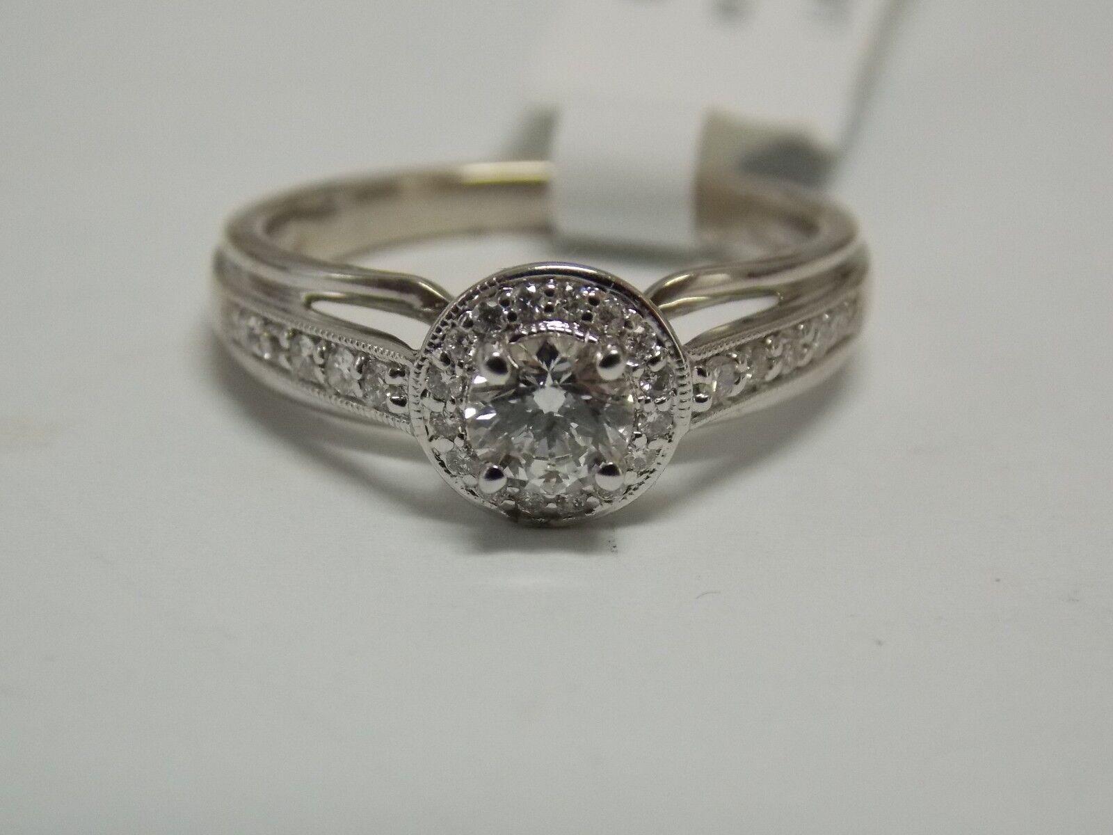 Fashion Diamond Engagement Ring Halo Settings on 14K White gold by Allura