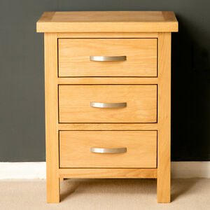 Image Is Loading London Oak Bedside Table Light Cabinet
