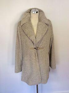 Feel Size Fur Coat 14 White Designer Faux Beige Riani amp; German nzUqx04