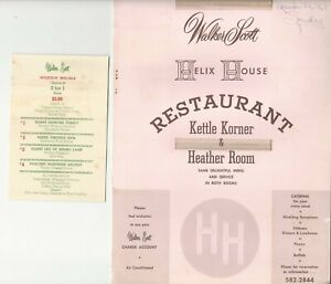 Vintage HELIX HOUSE Restaurant Menu San Diego California 1964