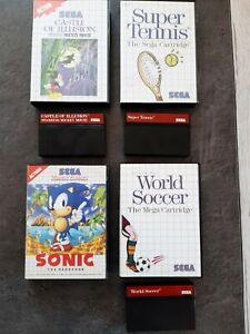 Sonic, Mickey castle of illusion,master system.