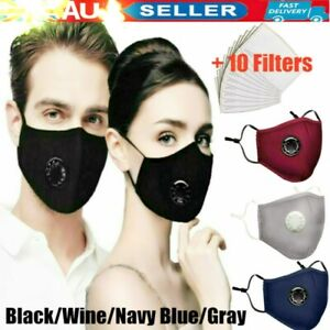 Adult Kids Anti Air Pollution Face Mask Respirator 10 Filters Washable Reusable