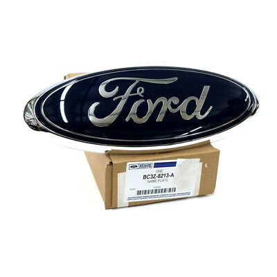 Ford F250 F350 E150 E250 Super Duty Front Grille Blue 9 Inch Oval Emblem OEM NEW