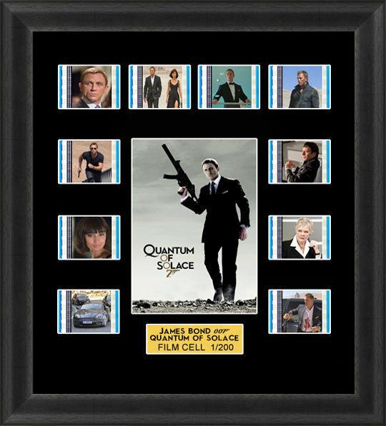 James Bond Quantum of Solace Framed 35mm Film Cell Memorabilia ...