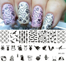 BORN PRETTY Nail Art Stamping Plate Animal Theme Image Stamp Template BP-L025