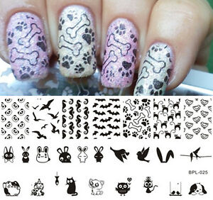 Born-Pretty-Nail-Art-Stamping-Plates-Animal-Theme-Image-Stamp-Template-BP-L025