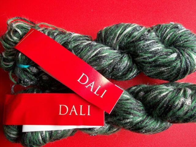 Feza Yarns Dali wool/mohair/nylon luxury yarn, Evergreen, lot of 2 (140 yds ea)
