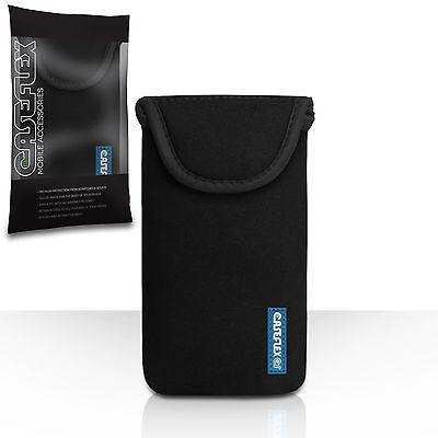 Caseflex Accessories For The Sony Xperia Z2 Black Neoprene Pouch Case Cover