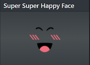 Rare Roblox Limited Super Super Happy Face Clean Limited Stock