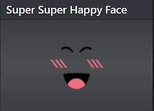 Sold Super Super Happy Face Roblox 24000 Robux Value Worth 250