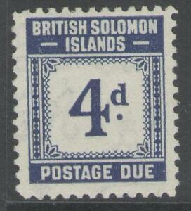 BRITISH-SOLOMON-IS-SGD4-1940-4d-BLUE-MTD-MINT