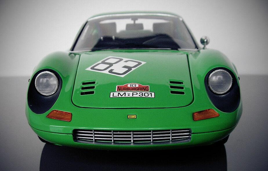 Coche De Carrera Ferrari 1 F Grand Prix Sport GT 64 1969 Vintage 12 exótico 18 carrusel verde 24