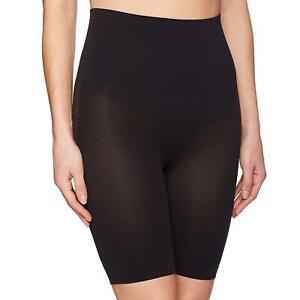 Black Yummie Women's Harlo Seamless Mid Waist Thigh Shaper Shapewear X-small/s High Resilience