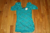Deb Top Teal Size Medium Nylon/spandex With Tags