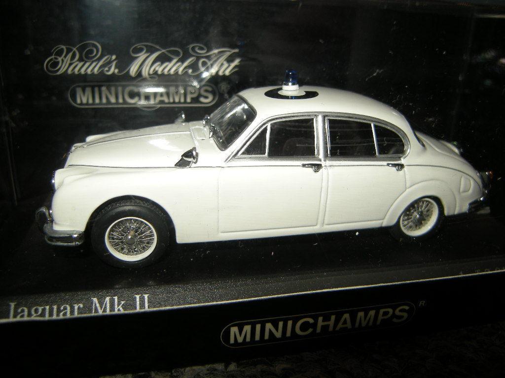 1 43 Minichamps Jaguar Mk. II 1959 police police nº 430130690 in neuf dans sa boîte