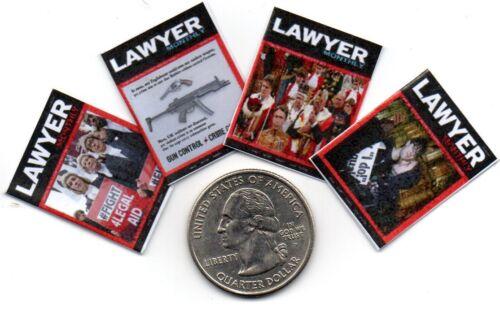 Lawyer   MAGAZINES Dollhouse  1:12 scale OPENING 4 Mini  British UK Law