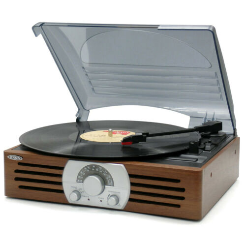 Record Player Turntable Stereo Portable 3-Speed Speaker Home Outdoor Music Audio