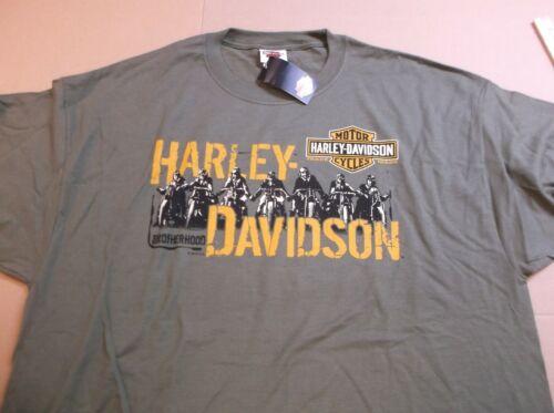 Harley-Davidson Men/'s Military Green Ride Group Brotherhood T-shirt Large NEW