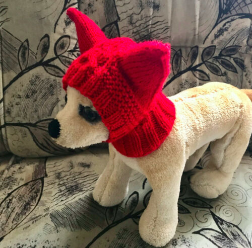 Pet Clothes Apparel Crochet Hand-Knit Snow Hat for Small Dog  XS XXS S Sizes