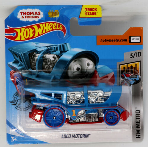 THOMAS TANK ENGINE LOCO Motorin HOT WHEELS Metro 1:64 Scale Diecast Model Toy