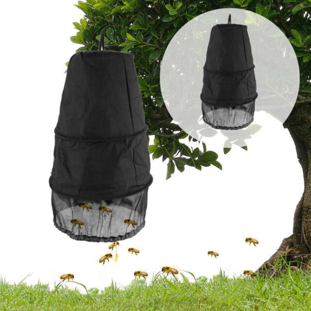 Black Beekeeper Bee Hive Cage Swarm Trap Swarming Catcher Gather Beekeeping Tool