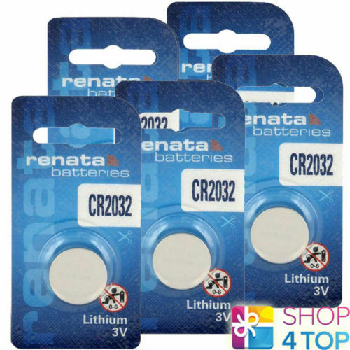 5 Renata CR2032 Lithium Batteries 3V Cell Coin Button DL2032 Exp 2027 New