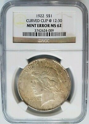 1922 $1 Silver Peace Dollar NGC MS62