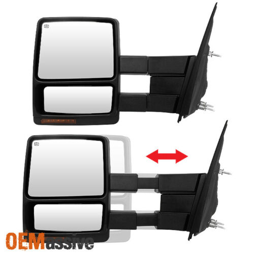 Fit 2007-14 Ford F150 Passenger Side Extendable LED Signal Power Towing Mirror