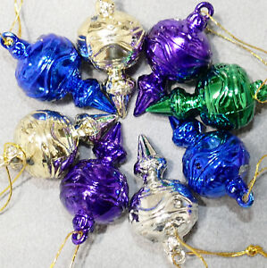 Christmas-Ornament-Unbreakable-FEATHER-TREE-Tops-Drops-Lot-of-12