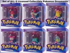 Pokemon Christmas Ornaments.Details About Pokemon Christmas Ornaments Full Set All 6 Poke Pikachu Charmander Retired Nib