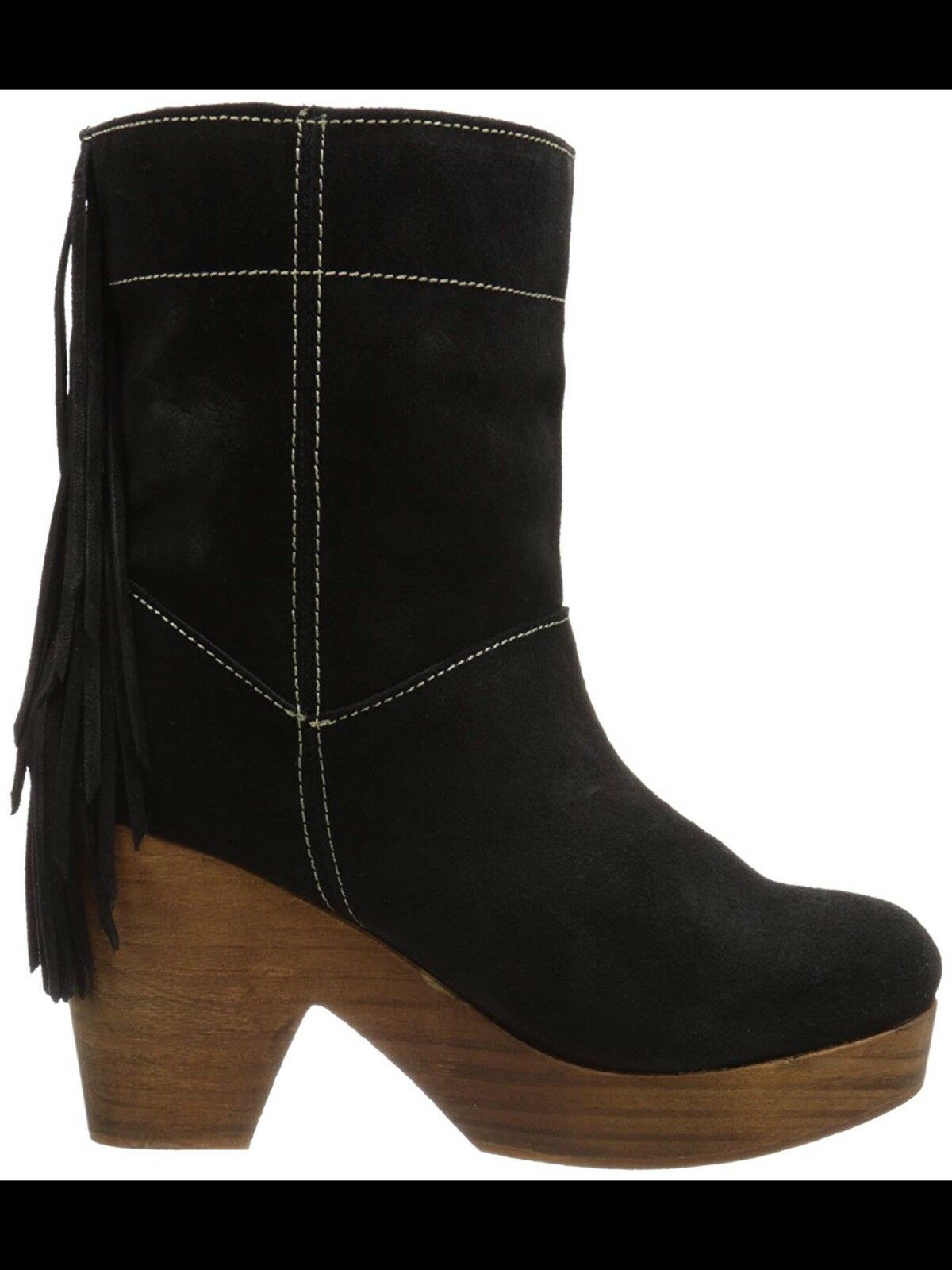 FREEBIRD BY STEVEN  Boot Farah' Fringe Platform Clog Boot  NEW MSRP 350 e3b546