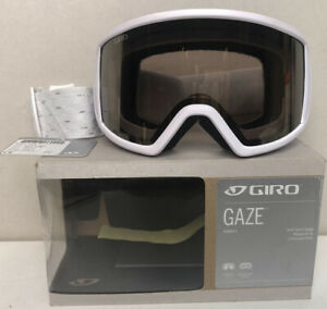 GIRO-Snow-Goggles-Gaze-Womens-White-Shimmer-w-Amber-Gold-Lens-NEW