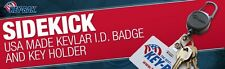 0KB1-0A21 KEY-BAK Retractable Kevlar SIDEKICK Key Ring ID Badge Reel w/Carabiner