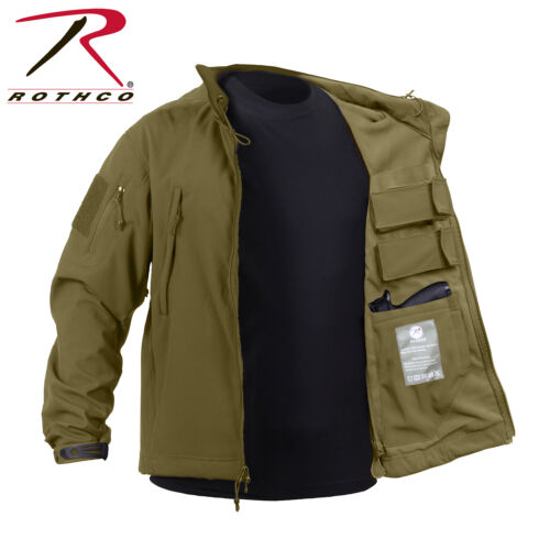 Rothco 55485 Concealed Carry Soft Shell Jacket Coyote Brown