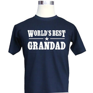 024b17ff3 Worlds Best Grandad, Men's Funny T-Shirt, Greatest Birthday Present ...
