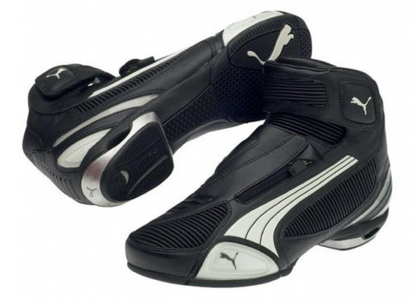Puma Testastretta II MID Zapato Bota de moto de Corte Bajo Negro blancoo Talla EE. UU. 8 9 10