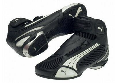 Repulsión Oso asistente  PUMA TESTASTRETTA II MID LOW CUT MOTORCYCLE SHOE BOOT BLACK WHITE SIZE US  11 12   eBay