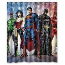 New Batman And Wonder Women Waterproof Bathroom Shower Curtain 60 X 72 Inch