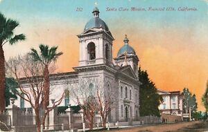 Postcard-Santa-Clara-Mission-California