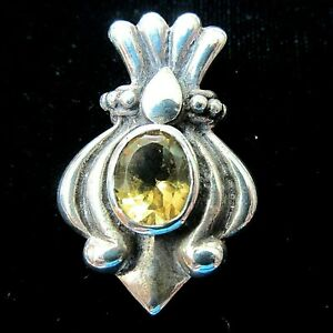 3-Karat-Faceted-Oval-Natural-Citrine-in-Sterling-Silver-925-Pendant-Slide