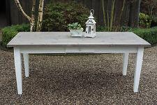 Esstisch Tisch Esszimmer Massivholz Landhaus 200 cm M01 weiss/grau/Treibholz Neu