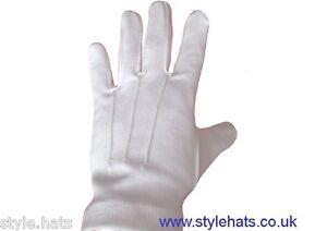 Ceremonial White Dress Gloves Parade Masonic Services Unisex Men ...