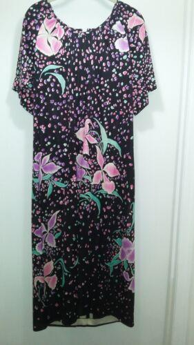 Vintage Leonard Paris 1X print dress never worn ba