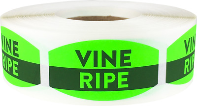 500 Labels on a Roll 0.75 x 1.375 Inches Vine Ripe Grocery Market Stickers