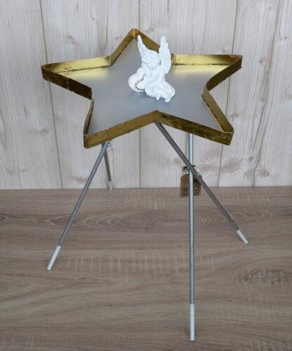 Beistelltisch Stern Metall rot gold türkis lila Schaufenster Deko Weihnachten